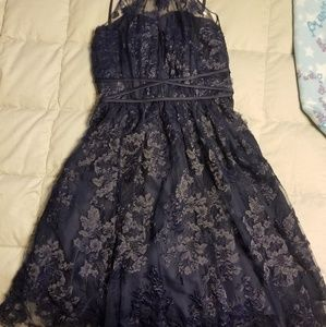 Short lace overlay party dress. Sz 2